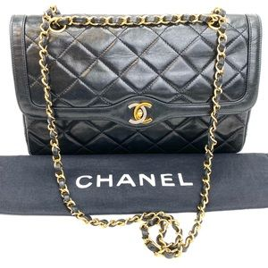 CHANEL Vintage Two-Tone CC Mini Flap Quilted
